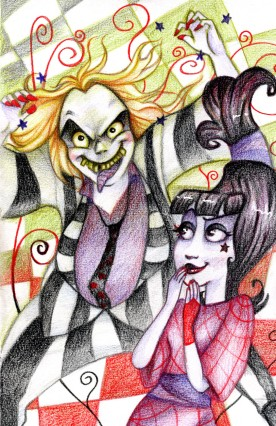 """A """"Beetlejuice"""" Fanart colored with colored pencils"""