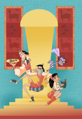 """""""The Emperor's New Groove/School"""" Fanart colored with Photoshop"""