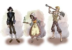 """Character Design für """"Marie Dieudonnée"""""""