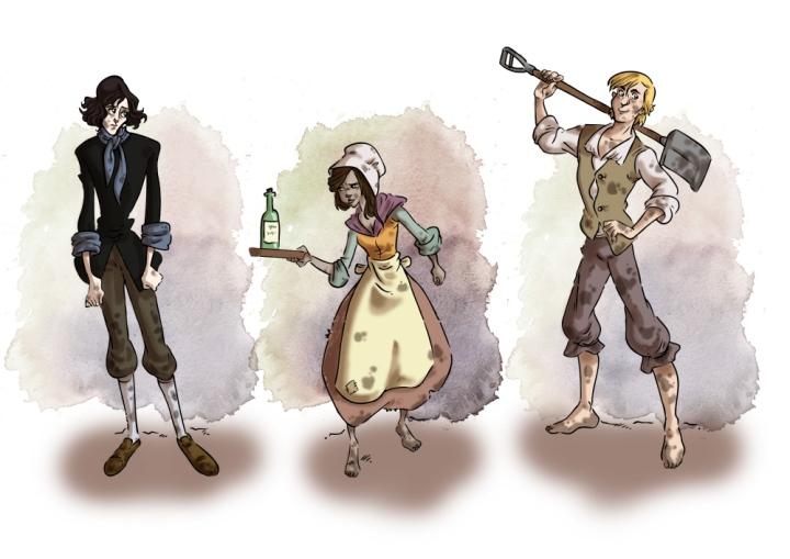 Character Designs zuMarie