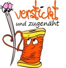 """Logo for """"verstickt und zugenäht"""" 2014"""