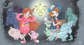 Fanart of Gravity Falls (colored with Sketchbook Pro)