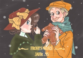 Frohes Neues Jahr (colored with SketchbookPro)