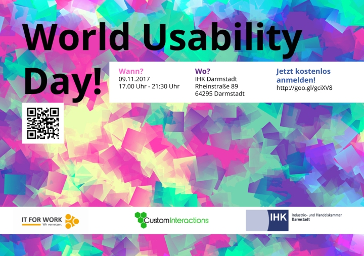 Flyer für den World Usability Day